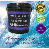 Flor De Sal Produzida No Brasil Balde 3kg