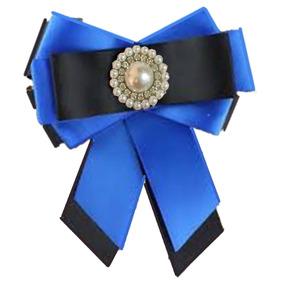 4 Broche Corbatin Prendedor Bow Brooch Azules Camafeo