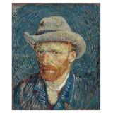 Retrato Chapéu Feltro - Van Gogh - 75x90 Tela Para Quadro