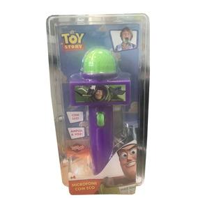 Microfone Com Eco E Luz Toy Story Buzzlightyear Roxo E Verde