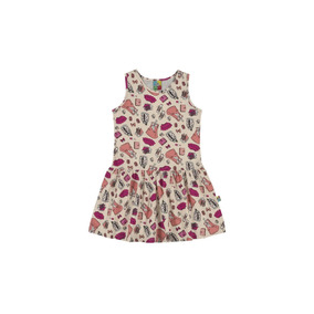 Vestido Infantil Bee Loop Estampado