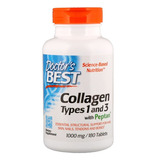 Colágeno Hidrolisado Tipo 1 E 3 1000mg C/vitamina C 180 Comp