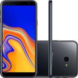 Smartphone Samsung Galaxy J4+ Preto, Dual , Tela 6 , 32gb