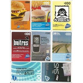 Uruguai 8 Cartões Telefônicos Para Celular Diferentes Lote 1