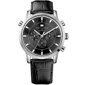 Relógio Tommy Hilfiger Masculino Couro Preto - 1790875