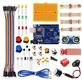 Kit Arduino Uno Iniciante + Sensores + Ultrassônico + Maleta