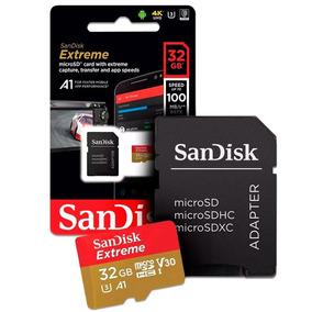 Cartão Micro Sd 32gb Sandisk Extreme 4k P/ Go Pro E Android