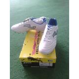 Zapato De Futbol Taco Joma Blanco Azul