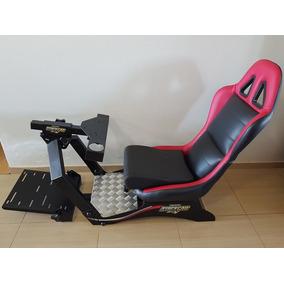 Cockpit Extreme Racing Suporte Para Volante E Pedais + Banco