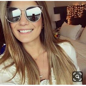 9e6c5a01a21e4 Óculos Solar Feminino Espelhado Moda Verão Coleção 2019 Luxo