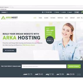 Tema Wordpress Arkahost Para Site De Hospedagem
