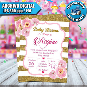 Invitaciones De Baby Shower Digitales Personalizadas
