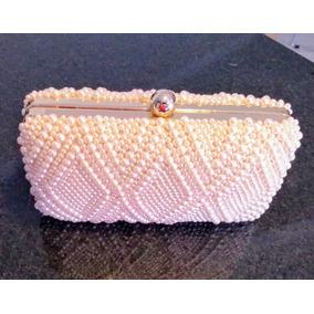 Bolsa Clutch Feminina Carteira Pérolas Dourada Casamento 259a01f0ce8