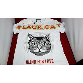 Playera White Black Cat Blanca De Gucci Nueva Temporada 28442e71cbf