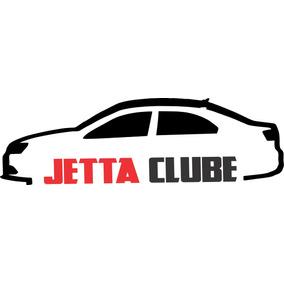 Kit 3x Adesivo Clube Do Jetta Carro Personalizado 22cm A247