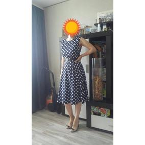 Vestido Boleado Polka Dama Talla Mediano No Incluye Cinturon
