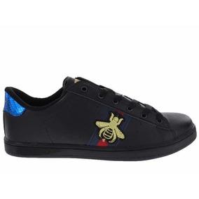 Tenis Zapato Hombre Tipo Gucci Color Negro | Erez