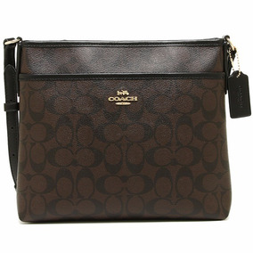 Coach Bolsa Crossbody F29210 Small Café Negro 100% Original