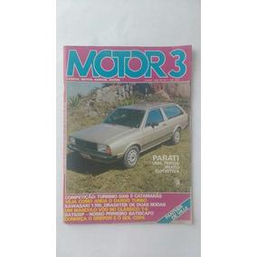 Revista Motor 3 Carro Quadrado Frete Grátis