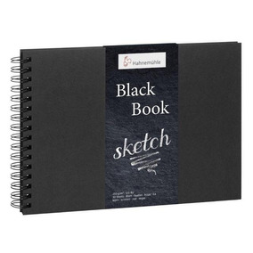 Caderno Sketch Black Book A4 - Preto