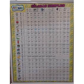 Painel Banner De Lona Sílabas Simples + Números