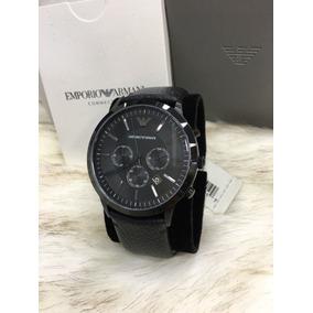 c29a6d61b5277 Relógio Empório Armani Ar0643 Preto Couro Classico - Relógios De ...