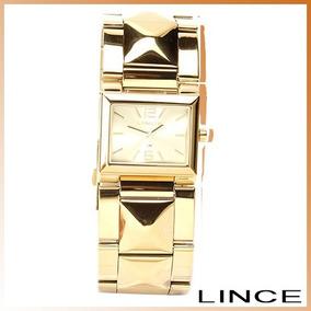 cbff35b4457 Relogio Feminino Digital Quadrado Dourado Lince Sdg615l Bxkx. Minas Gerais  · Relogio Analogico Dourado Quadrado Feminino