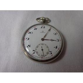 11b5c0a626f Antigo Relógio Suisso Omega De Bolso Níquel Com 15 Rubis - Relógios ...