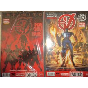 Nova Marvel Os Vingadores 1 A 35 Completa Panini 2013 Excele