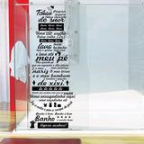 Adesivo Banheiro Box Música Ratinho Ratimbum (preto, 150x45c