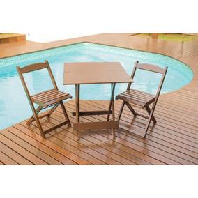 Jogos De Mesas Bar 70x70 Com 2 Cadeiras Dobrável