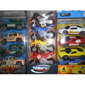 Carros E Motos 4 Unidades Coleção Cartela - Cada