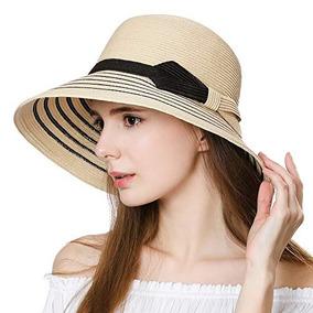 Jeff & Aimy - Sombrero De Paja Para Mujer, Upf, 50 Pajitas,