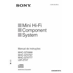 Manual De Usuario Sony Lbt Ztx7 Mhc Gtx888 Gtx 787 Gtx777