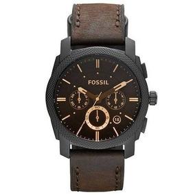 Relógio Masculino Pulseira Couro Fossil Fs4656/0pn