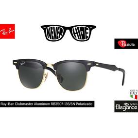 Óculos De Sol Ray-Ban Clubmaster Com lente polarizada no Mercado ... fd76d8eb05