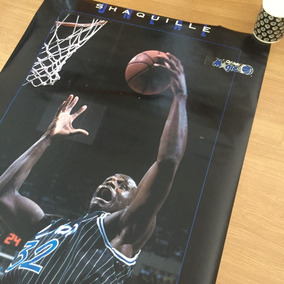 Pôster Enorme Vintage - Nba Shaquille Oneal Orlando Magic 94