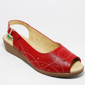 Sandalia Dama Capricho Mod. 27034 Piel Nuevos Rojo Msi