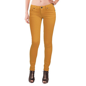 Jeans De Mujer Color Mostaza Marca Hybrid   Company Talla  1 a02c8d543bcf