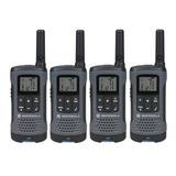 Kit 4un Radio Comunicador Talkabout T200br Cinza Motorola