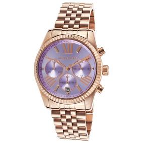 37b33bada718c Relógio Michael Kors Mk5569 Lexington Rose Golden Mid Size ...
