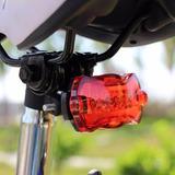 Luz De Segurança Com 5 Leds Bicicleta Bike Vermelha