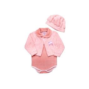 Body Bebe Menina Plush E Soft Com Boina Ref 6517. R  58 7033bb6829c