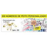 Kit Com 300 Números De Peito Personalizado C\ 1200 Alfinetes