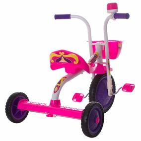 Velotrol Bicicleta Triciclo Infantil Menina Ultra Bike Rosa