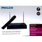 Micrófono Philco Karaoke Inalambrico Vhf Wm-700