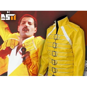 chaqueta amarilla mujer zara freddie mercury
