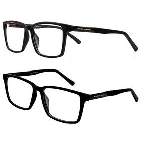 e81516b67bcb7 Armação Oculos P  Grau Masculino Ps8 Importado Acetato Metal