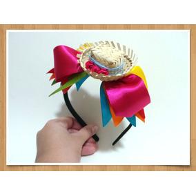 Tiara Festa Junina Enfeite Cabelo Caipira Mini Chapéu. R  25 6cdaa7c53b2