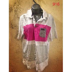 7ae92806e1 Camisa Polo Branca Pink G Listrada Básica Algodão Masculina